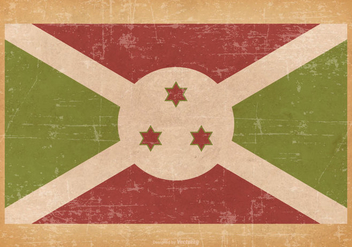 Falg of Burundi on Grunge Background - бесплатный vector #435205