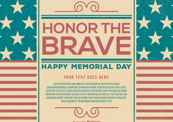 Vintage Memorial Day Template - vector gratuit #435215