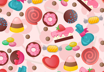 Seamless Pattern Of Sweet Candy - Free vector #435225