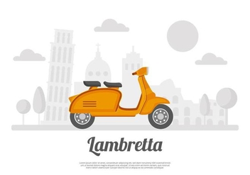 Free Lambretta Background Vector - бесплатный vector #435255