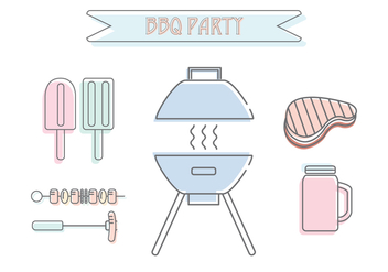 Barbecue Party Vector - vector #435265 gratis