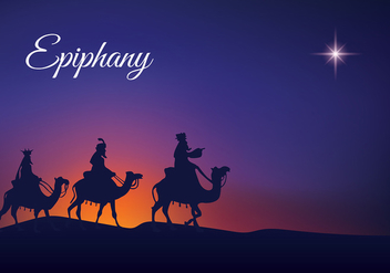 Epiphany Night Silhouette Free Vector - vector #435275 gratis