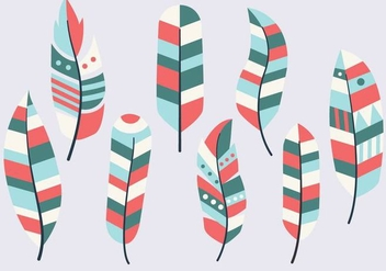 Free Feather Vintage Collection Vector - Kostenloses vector #435285