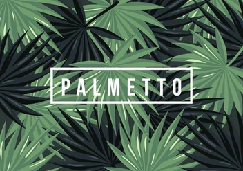 Palmetto Background - Free vector #435295