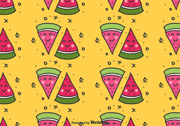 Watermelon Doodle Pattern - Free vector #435305