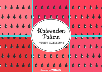 Watermelon Pattern Set - vector gratuit #435315