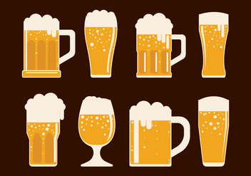 Cerveja Vector Icons Set - Free vector #435325