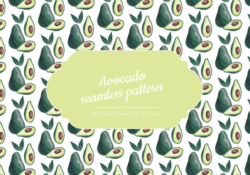 Vector Hand Drawn Avocado Seamless Pattern - vector gratuit #435345