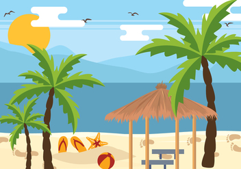 Palm Beach Holiday Vector - Free vector #435385