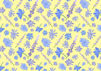 Free Wildflowers Pattern Vectors - Free vector #435395