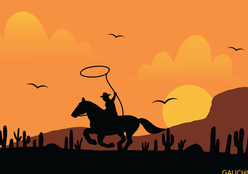 Gaucho Vector Illustration - vector #435425 gratis