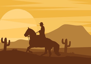 Gaucho Silhouette Free Vector - Free vector #435465