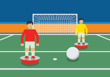 Subbuteo game illustration - vector gratuit #435485