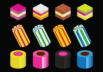 Bright Licorice Icons Set - vector gratuit #435495