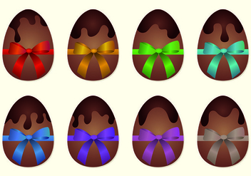 Vector Of Chocolate Easter Eggs - бесплатный vector #435525