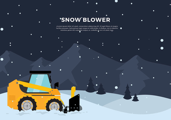 Snow Blower Tractor Free Vector - Free vector #435605
