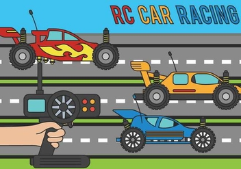 RC Car Vector Illustration - vector gratuit #435615
