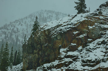 April Snow in the Sierra Nevada Mountains - image gratuit #435655