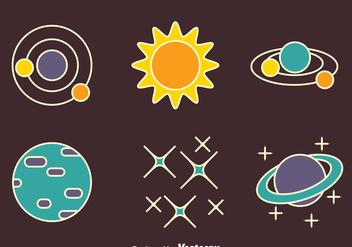 Nice Space Element Vectors - Free vector #435725