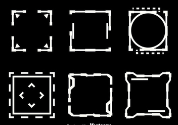 Square Hud Element Vectors - vector #435745 gratis