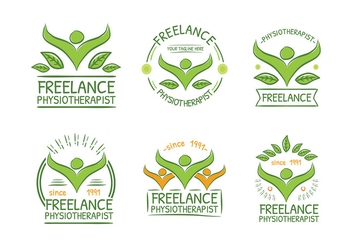 Physiotherapist Green Logo Free Vector - vector #435755 gratis