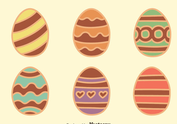 Chocolate Easter Egg Collection Vectors - Free vector #435765