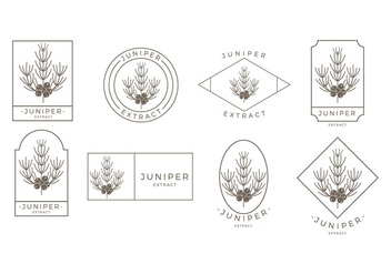 Juniper Outline Logo Free Vector - бесплатный vector #435775
