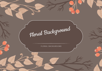 Vector Brown Floral Background - vector #435785 gratis