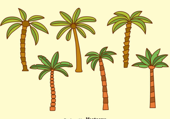 Palm Tree Collection Vectors - Free vector #435915