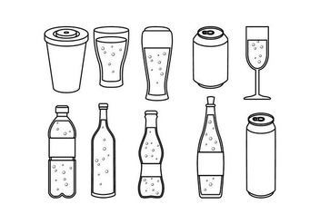 Free Soft Drink Line Icon Vector - vector gratuit #435935