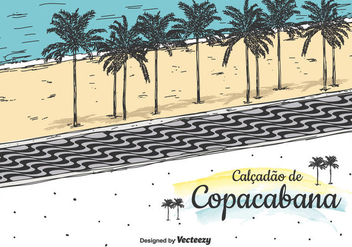 Copacabana Vector Background - бесплатный vector #435955