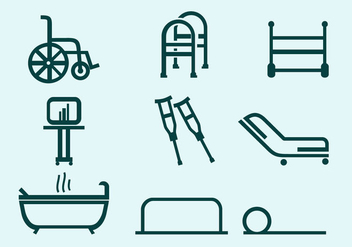 Physiotherapist Tools free vector - vector gratuit #435985