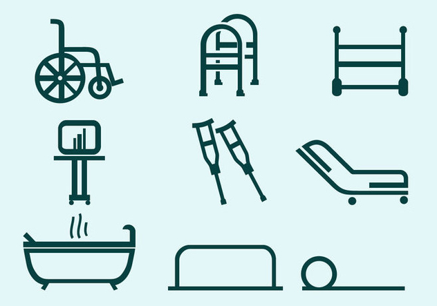 Physiotherapeut-Tools kostenlose Vektor - Kostenloses vector #435985