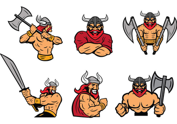 Free Vikings Logo Vector Set - Kostenloses vector #436025