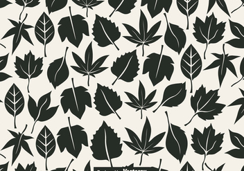 Vector Seamless Pattern Of Leaves - Kostenloses vector #436205