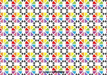 Vector Geometric Shapes Pattern - vector gratuit #436275