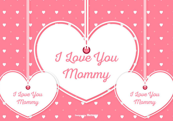Cute Mother's Day Illustration - бесплатный vector #436295