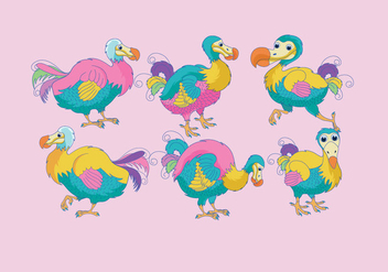 Dodo Colorful Vector - vector gratuit #436335