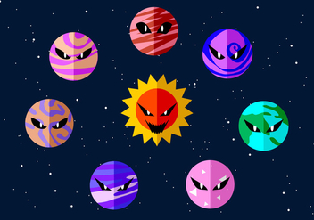 Angry Planets Free Vector - Kostenloses vector #436345