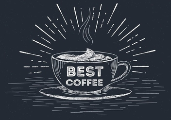 Free Hand Drawn Vector Coffee Cup Illustration - Free vector #436365