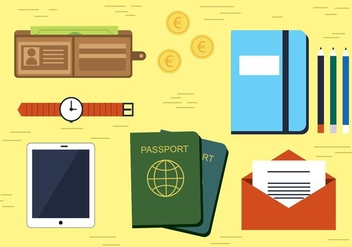 Free Vector Travel Icons Illustration - vector gratuit #436375