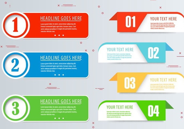 Free Vector Infographic Banner Set - Free vector #436385