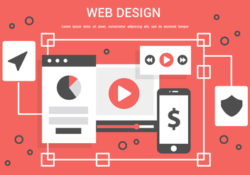 Free Vector Web Design Illustration - бесплатный vector #436395