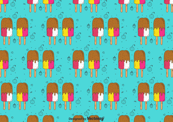 Popsicles Doodle Pattern - Kostenloses vector #436415