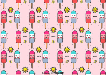 Popsicles Vector Pattern - Kostenloses vector #436425