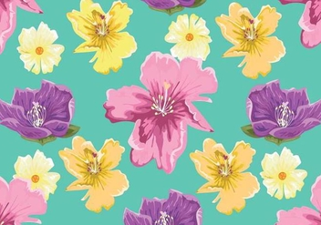 Rhododendron Seamless Pattern Vector - Kostenloses vector #436455
