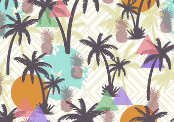Palmetto Seamless Pattern - бесплатный vector #436485