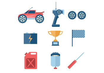 Remote Control Car Vector Icon - vector gratuit #436515