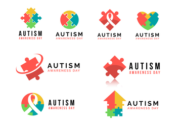 Autism Awareness Day Vector Logo - бесплатный vector #436535