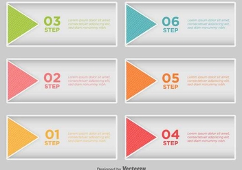 Step By Step Infographic - Vector - vector #436565 gratis